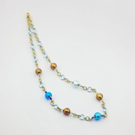 1241C-SERIE-DONNA-MINI-Collanai-tono-bronzo-azzurro