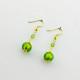 1260E2-SERIE-BASIC-ORO-Orecchino-Verde-Brillante
